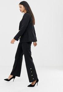 Read more about Unique21 wide leg trouser with button detail
