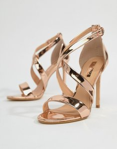 Read more about Office harper rose gold strappy heeled sandals - rose gold
