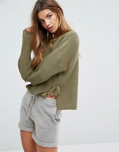 Read more about Micha lounge tie side jumper - green
