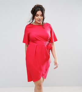 Read more about Closet plus wrap front dress - pink