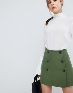 Read more about Asos double breasted mini skirt - green
