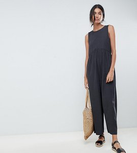 Read more about Asos design tall minimal jumpsuit with ruching detail - charcoal