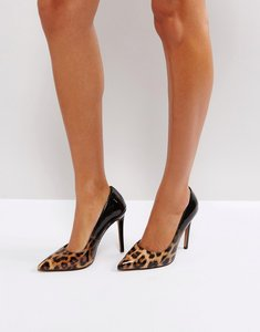 Read more about Asos passion ombre pointed heels - black leopard patent