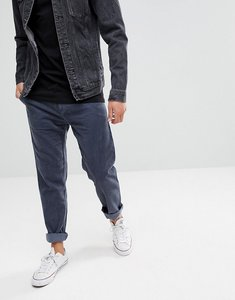 Read more about United colors of benetton slim fit chinos with drop crotch in chunky cord - 144 dark grey