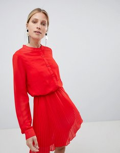 Read more about Unique 21 red pleated dress - red