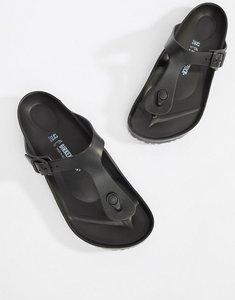 Read more about Birkenstock gizeh eva sandals in black - black