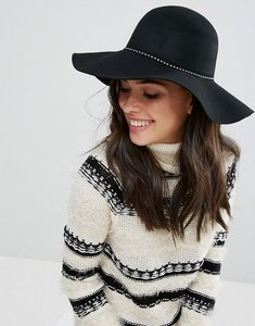 Read more about Only wool oversized fedora hat - black