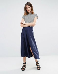 Read more about Warehouse full midi skirt - navy