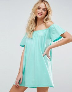 Read more about Asos off shoulder mini dress - mint