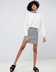 Read more about Asos design tailored a-line mini skirt in dogstooth - check