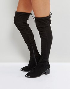 Read more about Office karma over the knee boots - black