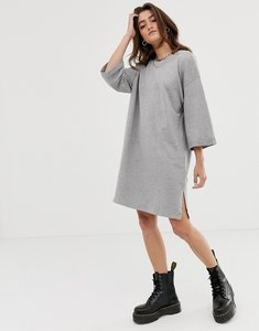 Read more about Noisy may 2 3 sleeve sweatshirt dress in grey