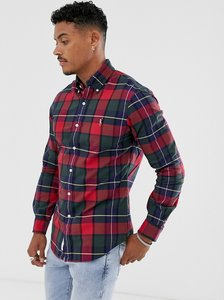 Read more about Polo ralph lauren slim fit shirt in red check with player logo