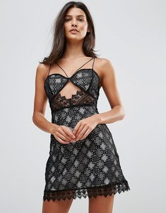 Read more about Millie mackintosh notting hill lace cut out slip dress - blk