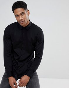Read more about Stradivarius slim fit jersey shirt in back - black