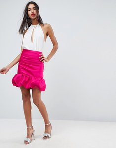 Read more about Asos high waisted mini puffball skirt - pink