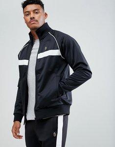 Read more about Luke sport eric funnel neck track jacket in black - black