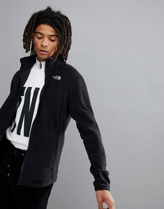 Read more about The north face 100 glacier full zip fleece in black - black
