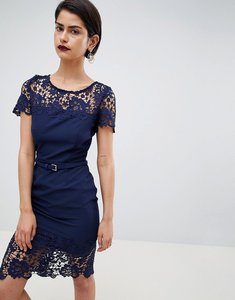 Read more about Paperdolls lace detail pencil dress - navy