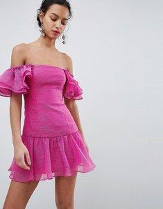 Read more about Keepsake ruffle mini dress - fuschia