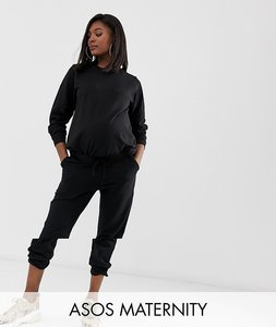 93bb85e39d127 Read more about Asos design maternity tracksuit ultimate sweat jogger with  tie