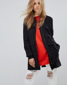 Read more about Jdy maria parka hybrid jacket - black