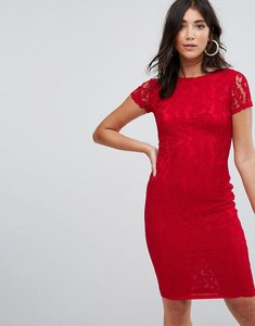 Read more about Ax paris crochet lace midi dress - red