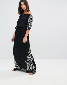 Read more about Glamorous off shoulder maxi dress - black