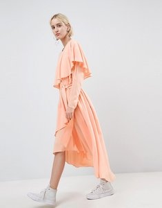 Read more about Asos white soft layered maxi dress - peach