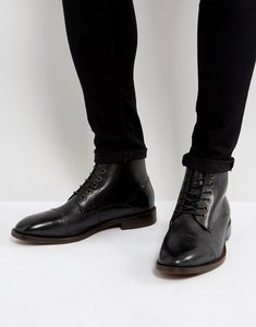 Read more about Hudson london seymour leather lace up boots in black - black