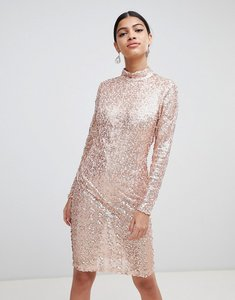 Read more about Ax paris sequin bodycon dress - rose gold
