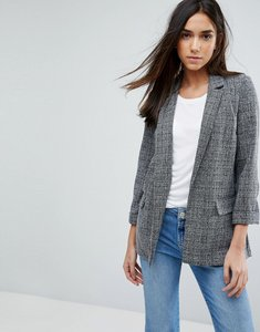 Read more about Warehouse textured tailored blazer - grey