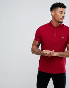 Read more about Lacoste slim fit logo polo shirt in red - 476