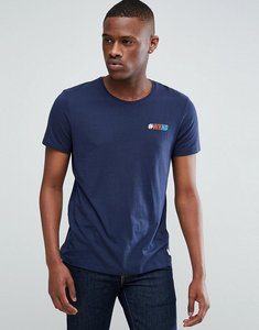 Read more about Esprit t-shirt with hashtag embroidery - navy 400