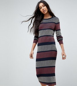 Read more about Vero moda tall striped knitted dress - navy blazer