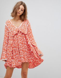 Read more about Free people like you best printed mini dress - red combo