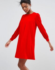 Read more about Traffic people long sleeve shift dress - red