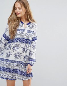 Read more about Yumi floral print tunic dress - ivory