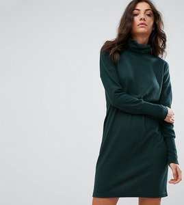 Read more about Noisy may tall high neck jumper dress - green