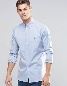 Read more about Polo ralph lauren oxford shirt in regular fit blue - blue