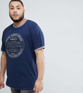 Read more about Duke king size t-shirt with classic print and embroidery - navy