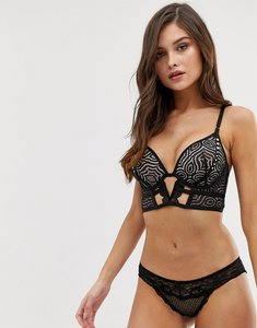 663c2c915 Read more about Hunkemoller asset longline plunge push-up bra in black