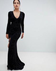 Read more about Forever unique velvet maxi dress - black
