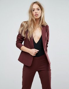 Read more about Y a s suit blazer co-ord - burgundy