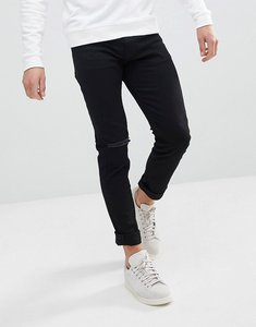 Read more about Weekday friday black distressed skinny jeans - black ripped