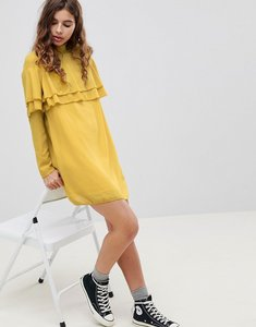 Read more about Glamorous neon frill dress - acid yellow