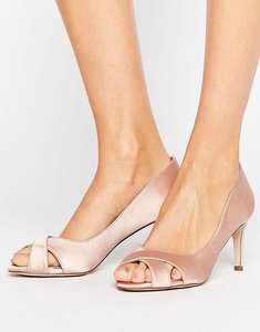Read more about Asos sage mid heels - nude satin