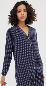 Read more about Native youth relaxed shirt dress in abstract spot print