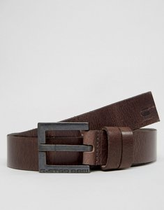 Read more about G-star duko leather belt in brown - brown