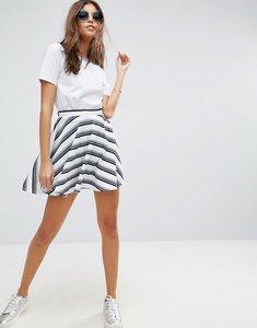 Read more about Asos textured mini skirt in stripe - white stripe